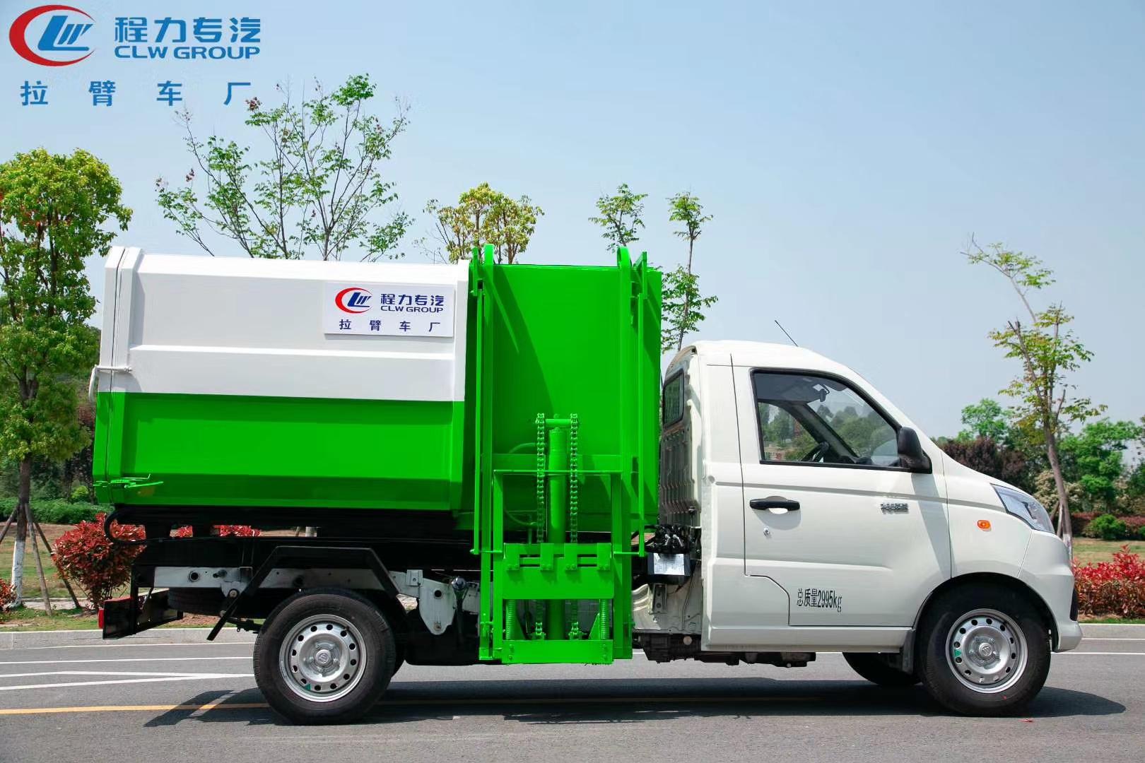 国六挂桶垃圾车批量生产图片配置价格