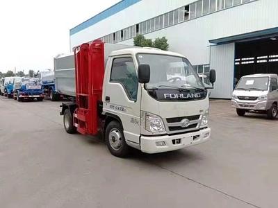 福田牌密闭式桶装垃圾车的八大优势车厢可卸式垃圾车自卸汽车图片
