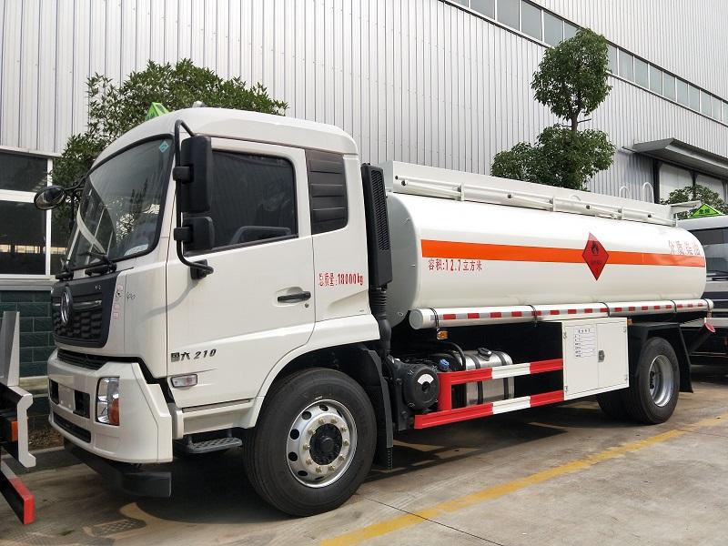 国六油罐车厂家 国六东风天锦单桥12吨加油车参数视频