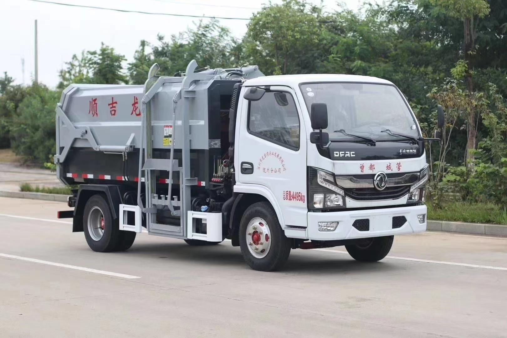 东风小多利卡侧装挂桶垃圾车容积5方图片