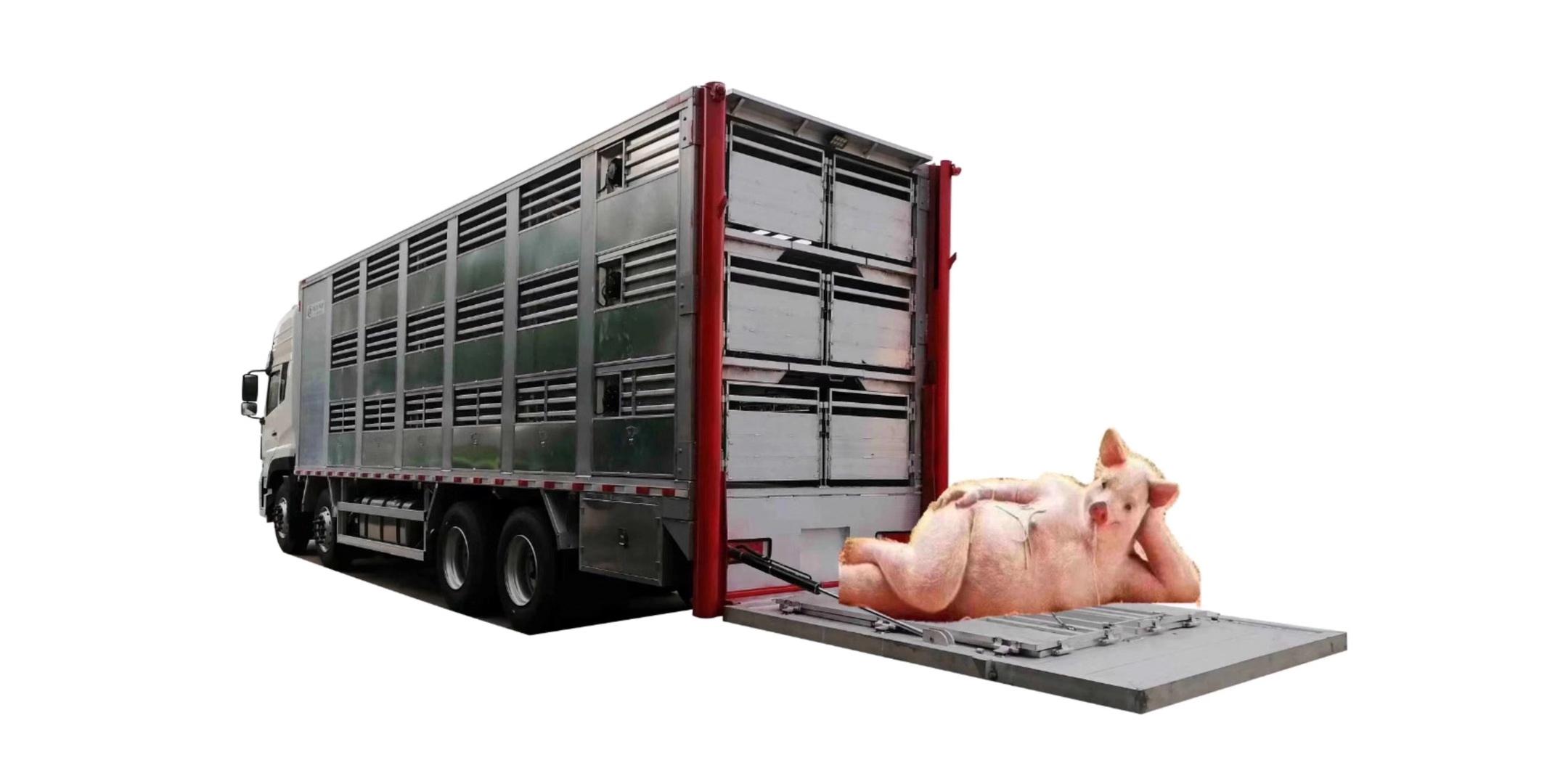 东风天龙铝合金恒温运猪车厂家报价