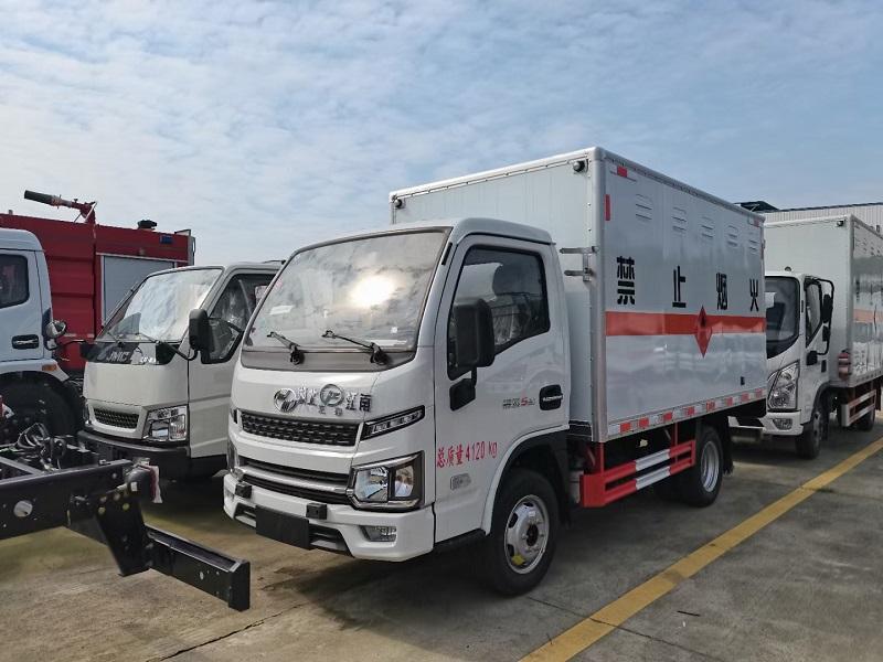国六跃进福运S80柴油版3米3易燃气体厢式运输车包上户