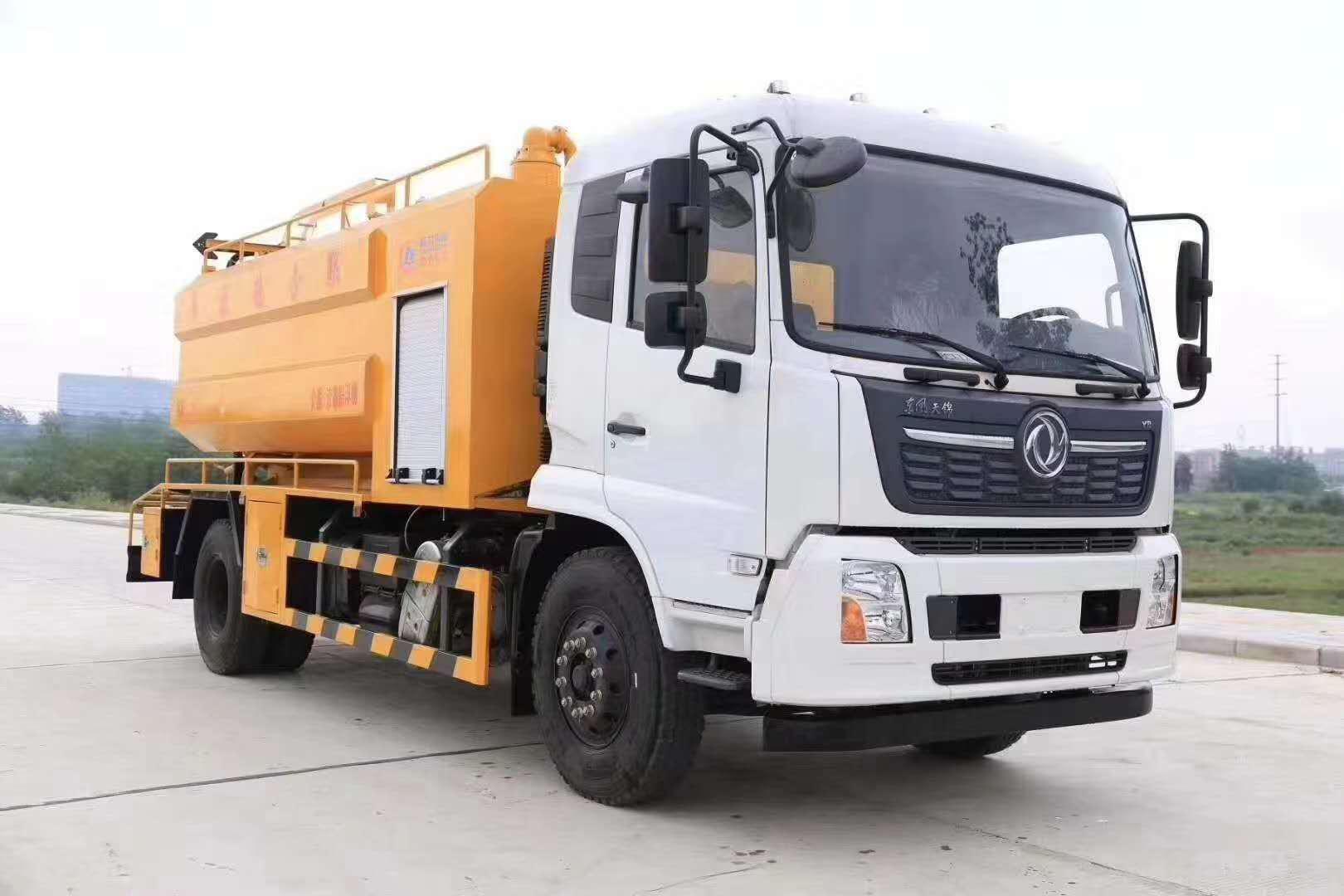 国六东风天锦清洗吸污车(CLW5180GQWD6)图片
