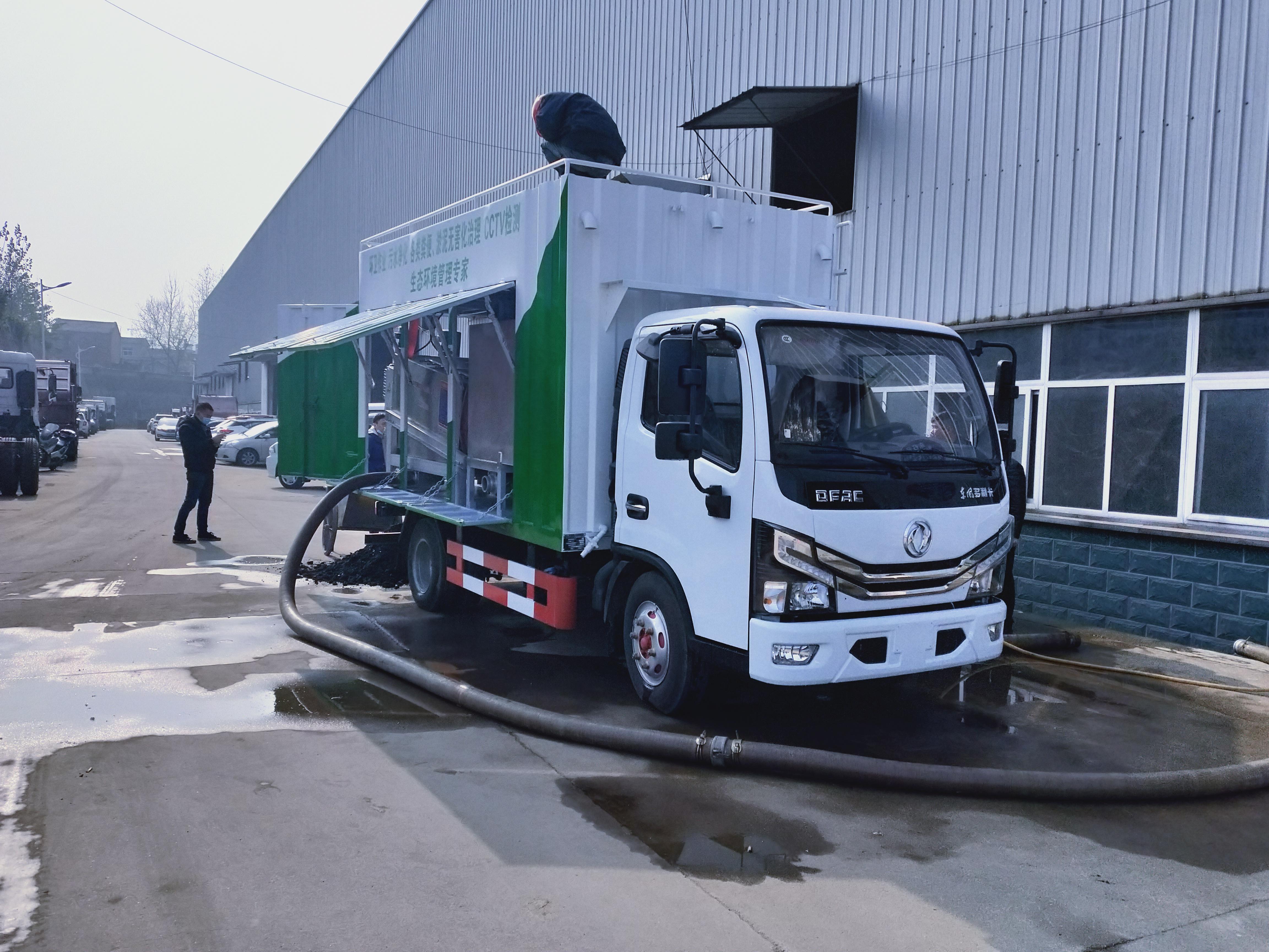 污水净化处理车价格厂家东风小多利卡污水处理车操作视频