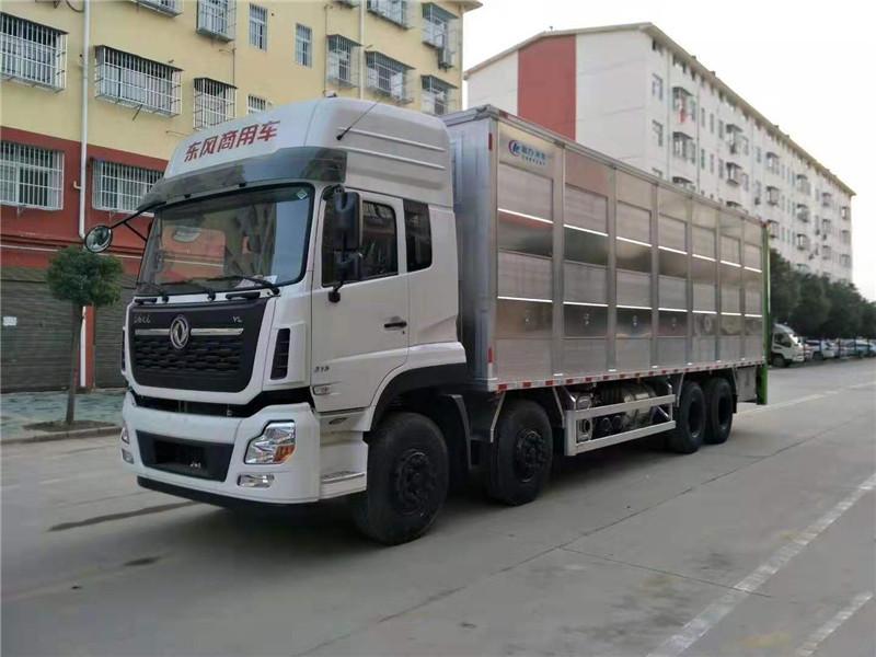 东风天龙活猪运输车让你吃上放心肉图片