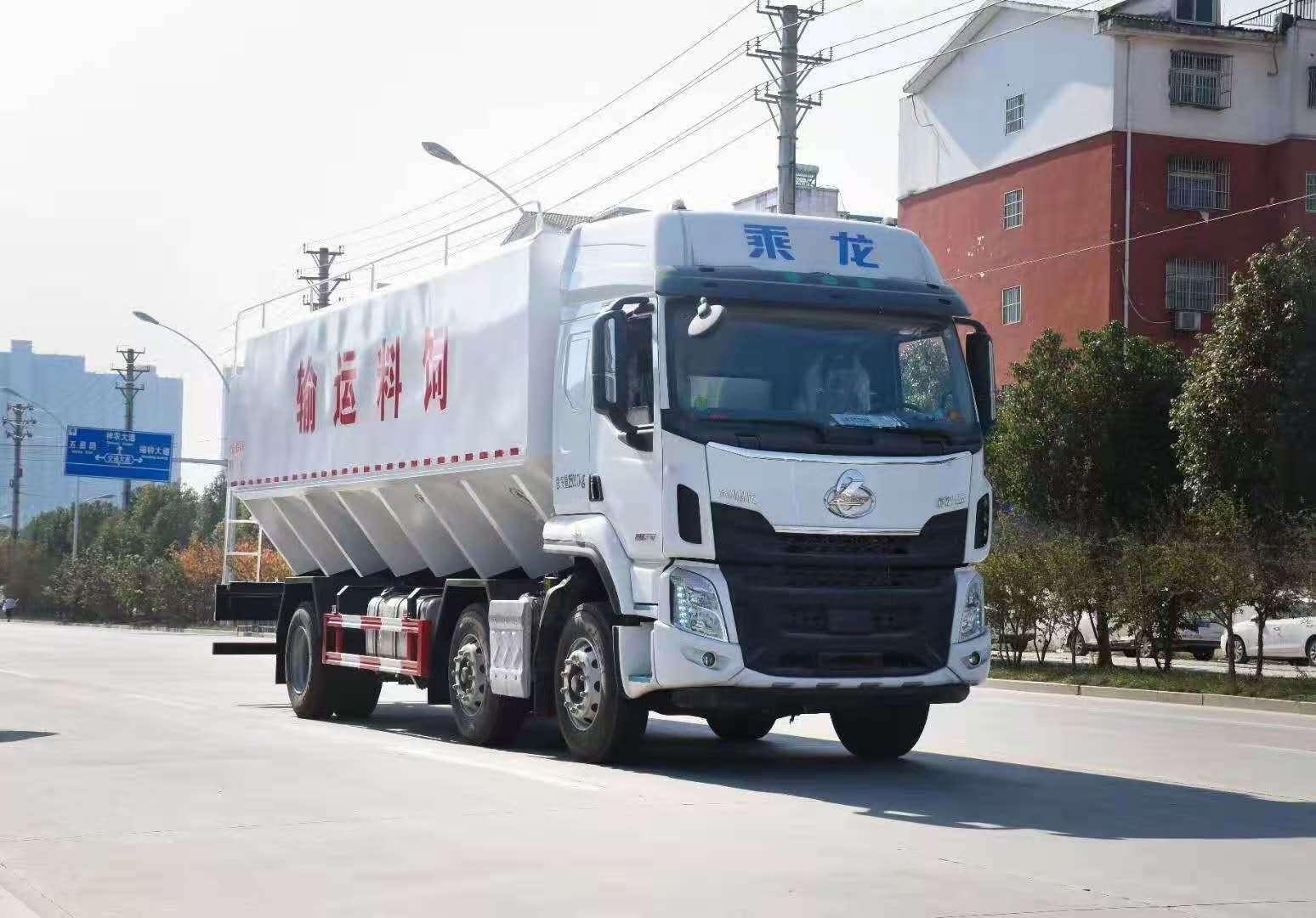 国六柳汽34方17吨散装饲料车报价,冠力汽车厂长笔记14图片