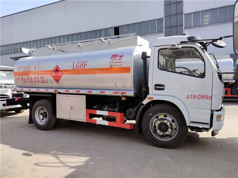 东风福瑞卡10方柴汽油加油车 满载10吨油罐车 厂家直销