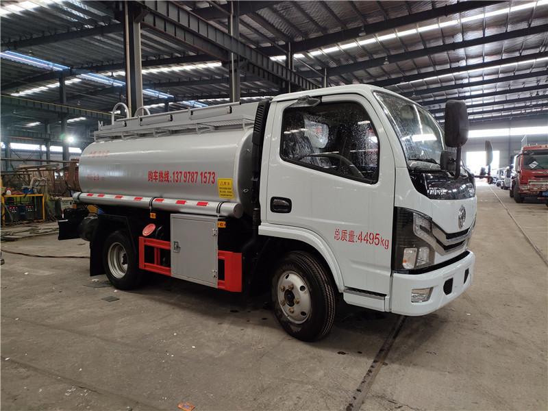 普货供液车厂家 蓝牌东风2.3方供液车 4吨普货油罐车 视频