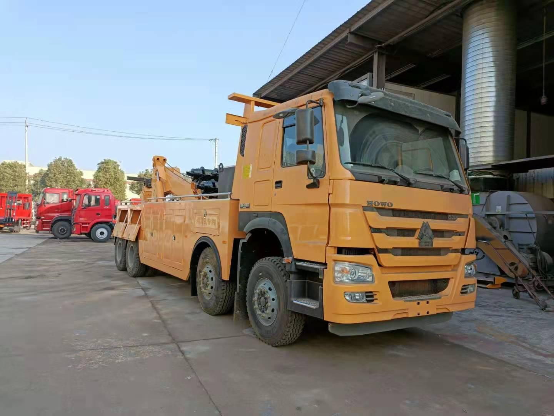 25吨重汽豪沃380马力清障车厂家批发价格国五前四后八拖车图片图片