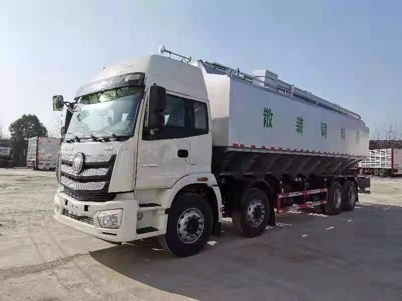 甘肃天水白银福田欧曼20吨饲料车回去上牌了,厂长笔记62图片