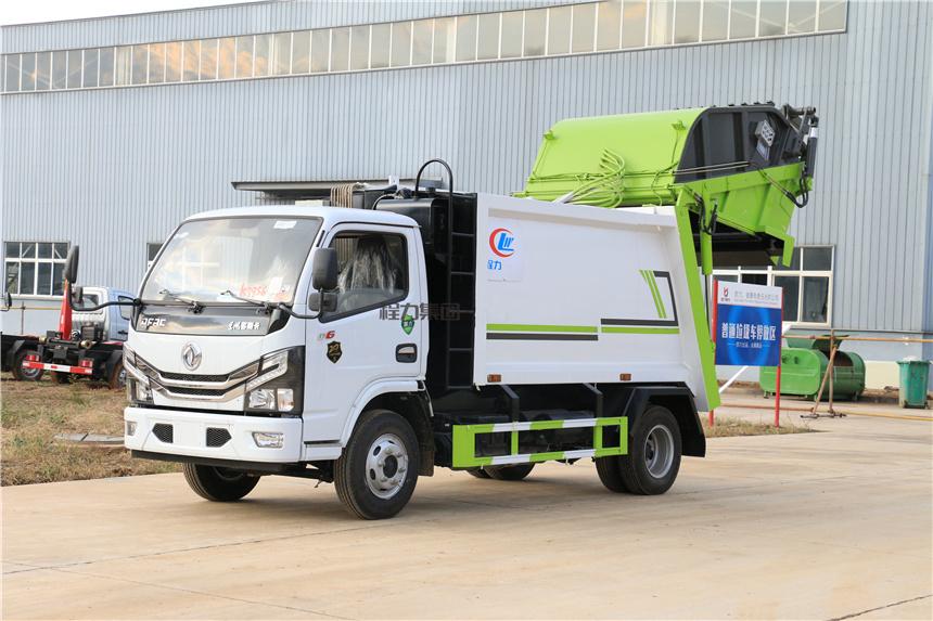 国六东风6方压缩垃圾车厂家定做玉柴140马力详细配置图片