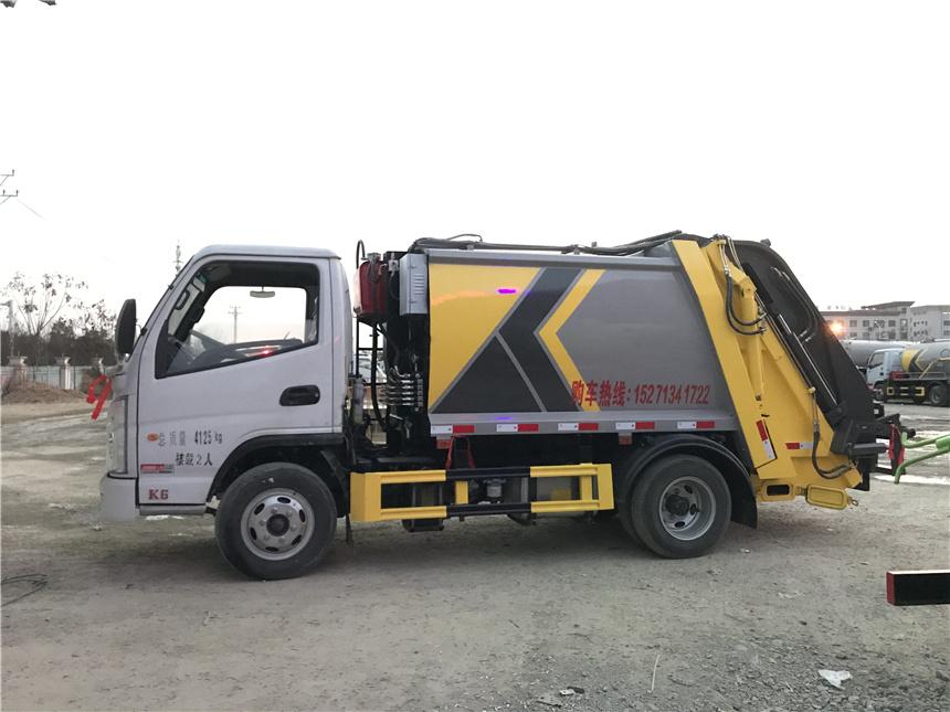 不超重国六4方凯马压缩垃圾车 全国上户 环卫垃圾车厂家图片