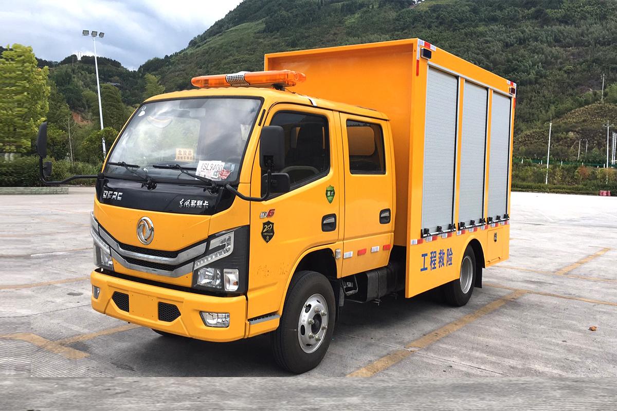 东风多利卡D6 双排 115马力工程救险车 抢险救援车图片